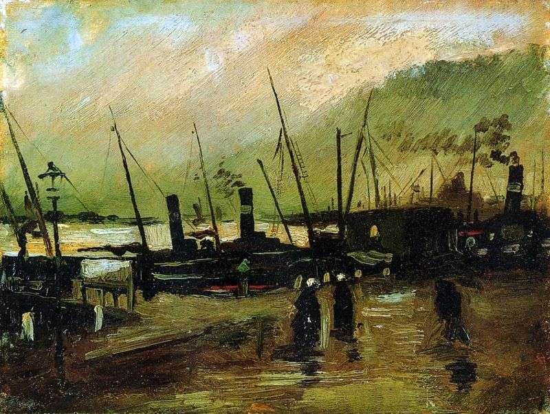 Nabrzeże ze statkami w Antwerpii   Vincent Van Gogh
