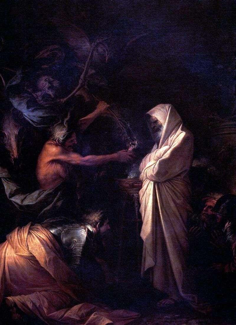 Duch Samuela Wzywany do Saula przez Czarodziejkę z Aendoru   Rosa Salvator