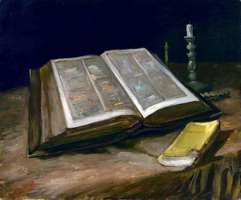 Martwa natura z Biblią   Vincent Van Gogh