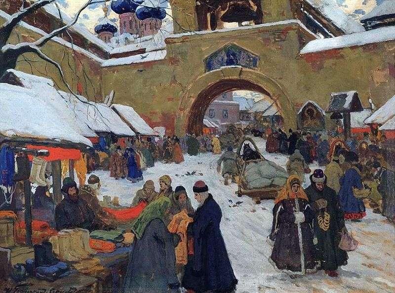 Dzień targowy na starym mieście   Ivan Goryushkin Sorokopudov