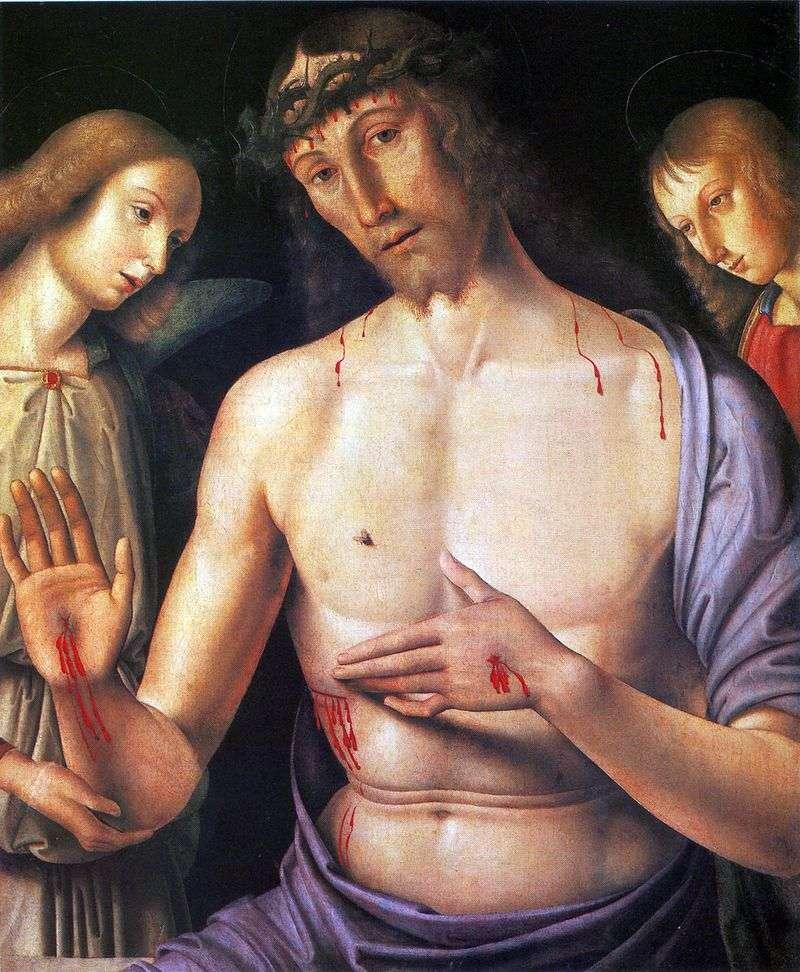 Chrystus z dwoma aniołami   Giovanni Santi