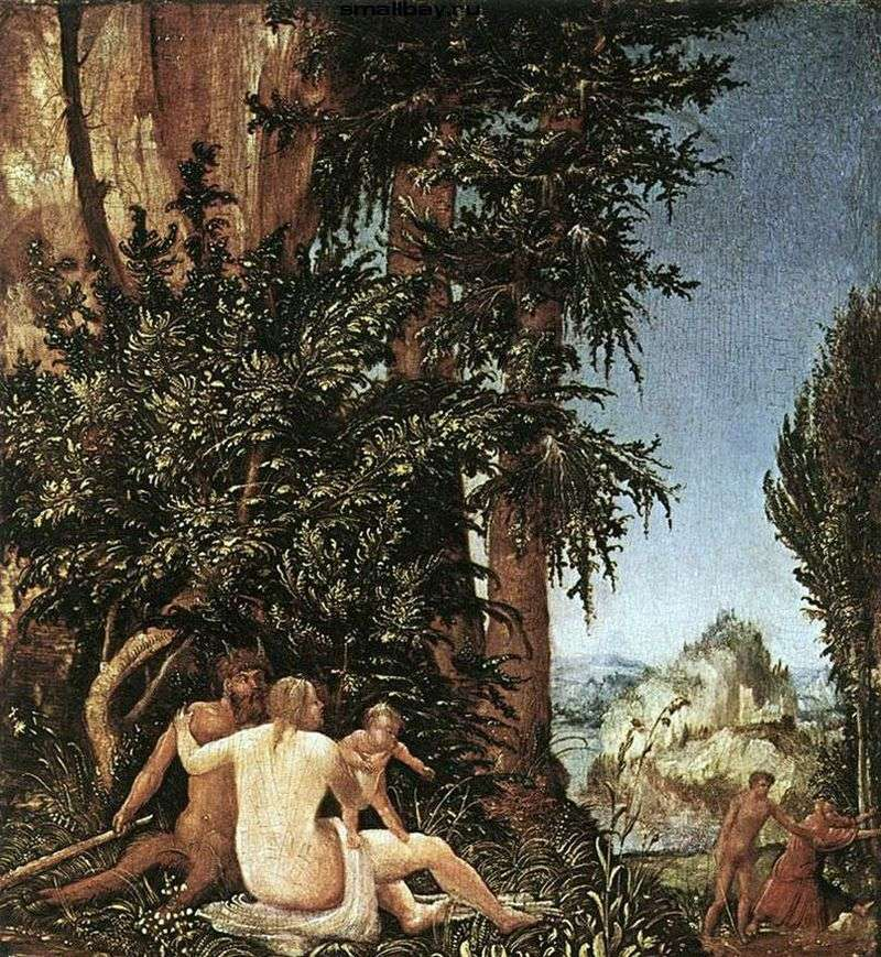 Krajobraz rodzinny satyry   Albrecht Altdorfer