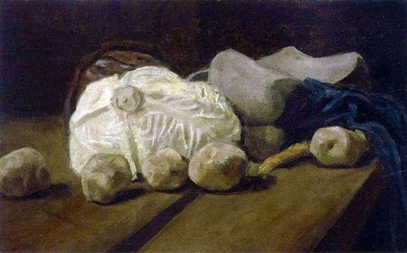 Martwa natura z kapustą i drewnianymi butami   Vincent Van Gogh