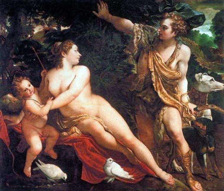 Wenus, Adonis i Kupidyn   Annibale Carracci