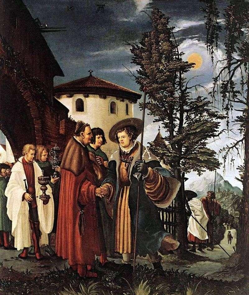 Pożegnanie św. Floriana z klasztorem   Albrecht Altdorfer