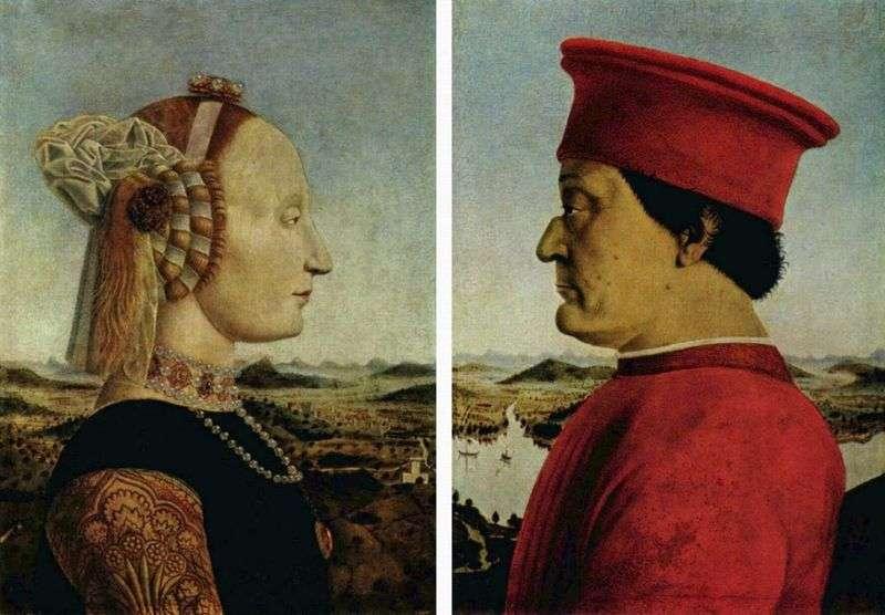 Portret księcia Federiga Montefeltro i księżnej Battisty Sforza   Piero della Francesca