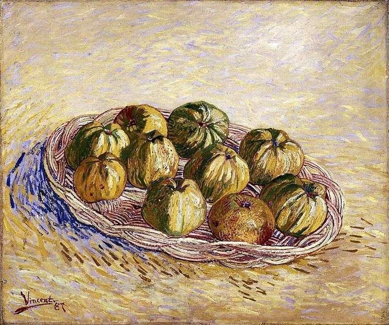 Martwa natura z koszem jabłek   Vincent Van Gogh