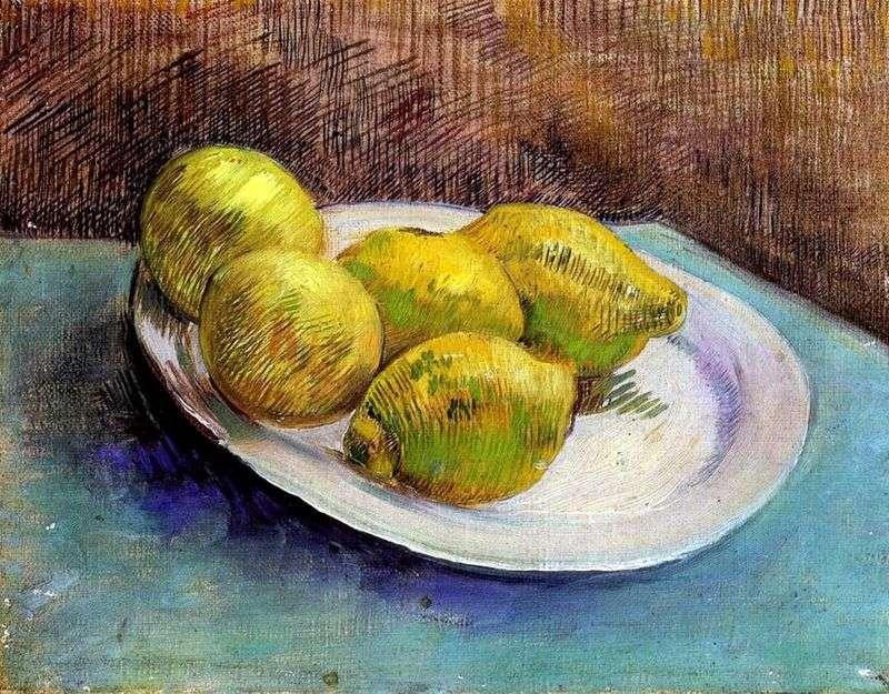 Martwa natura z cytrynami na talerzu   Vincent Van Gogh