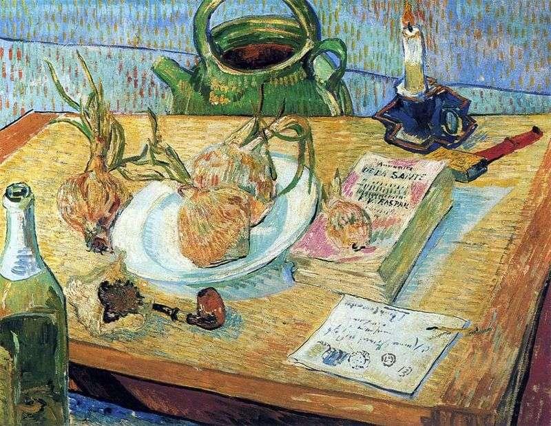Martwa natura z kokardą i deską kreślarską   Vincent van Gogh