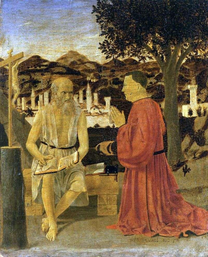 Święty Hieronim z Darczyńcem   Piero della Francesca