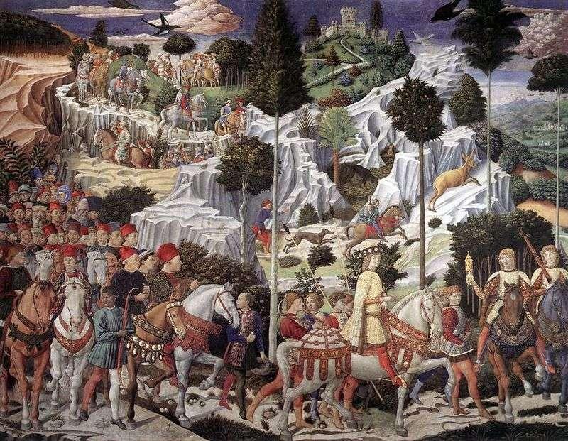 Procesja Trzech Króli   Benozzo Gozzoli