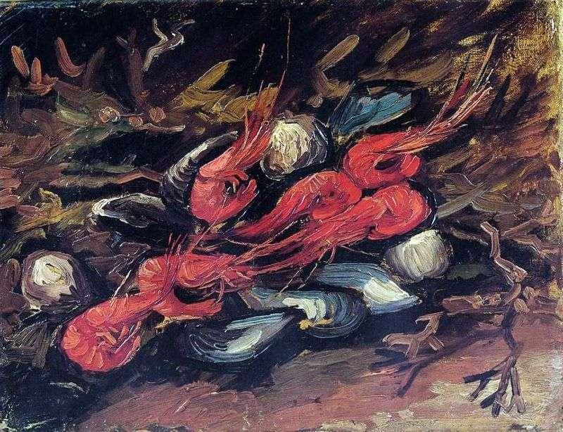 Martwa natura z małżami i krewetkami   Vincent Van Gogh