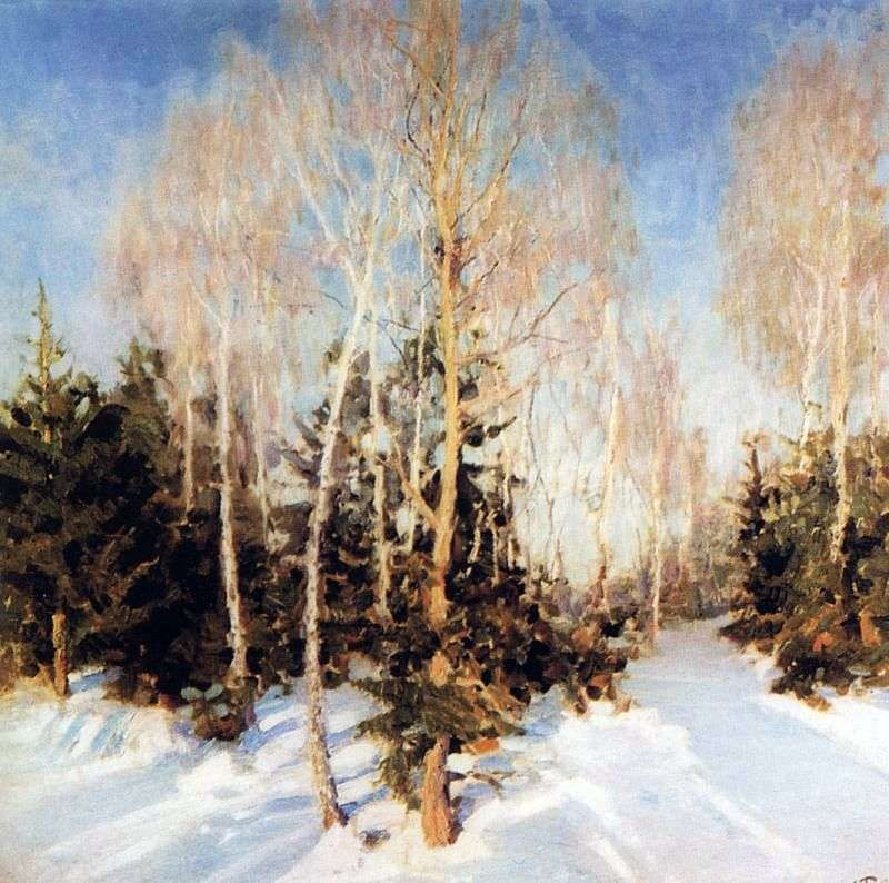Zimowy krajobraz   Igor Grabar
