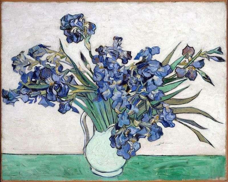 Martwa natura: Waza z Irysy   Vincent Van Gogh
