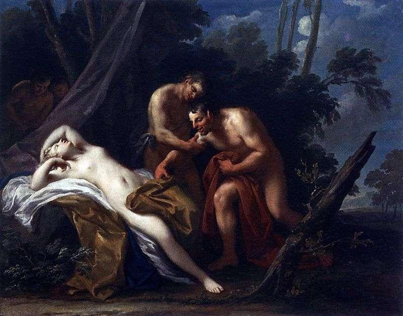Satyr i śpiąca nimfa   Jacopo Amigoni
