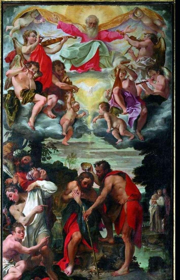 Chrzest Chrystusa   Annibale Carracci