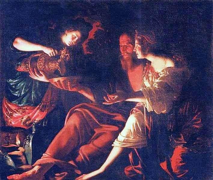 Lot i jego córki   Giovanni Francesco Gverrieri