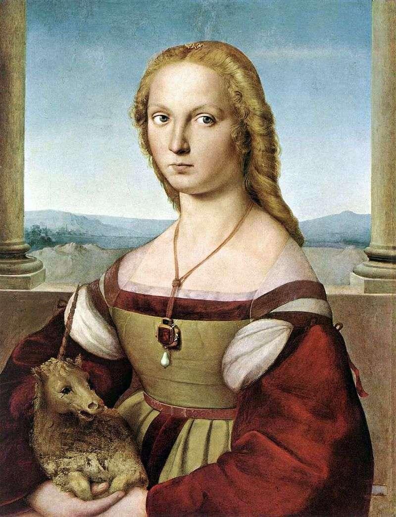 Lady with a Unicorn   Rafael Santi