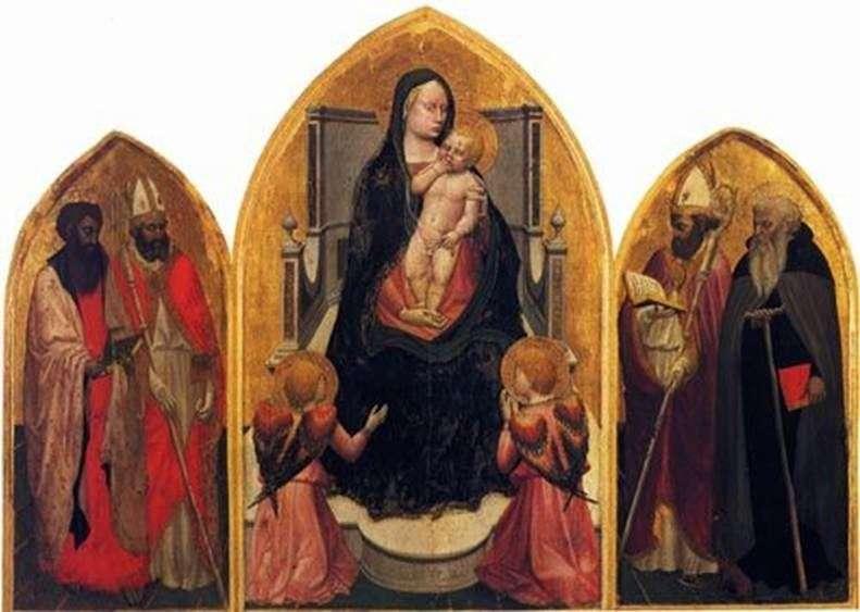 Madonna z aniołami i świętymi (tryptyk św. Jana)   Masaccio