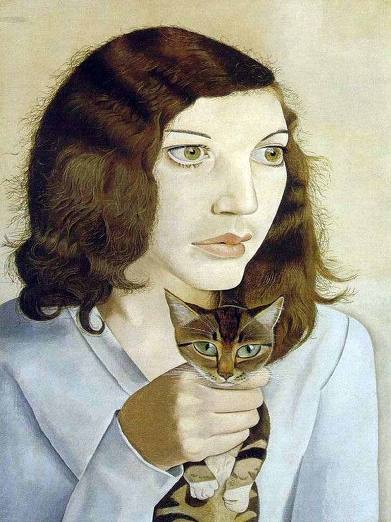 Dziewczyna z kotem   Lucien Freud