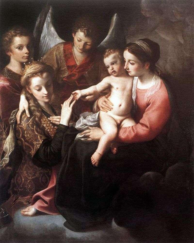 Zaangażowanie św. Katarzyny   Annibale Carracci