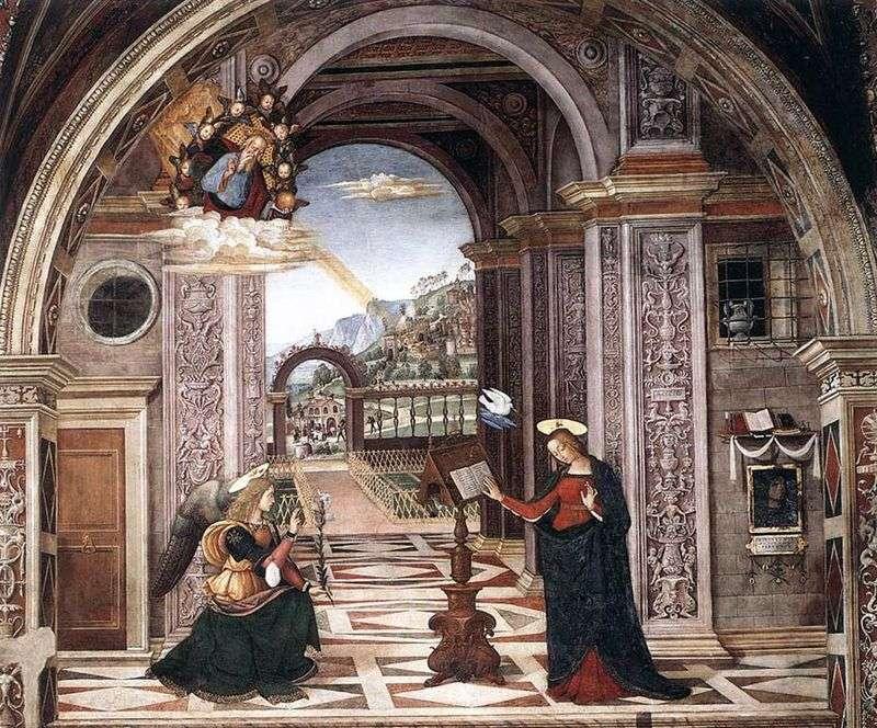Zwiastowanie. Fresco   Bernardino Pinturicchio