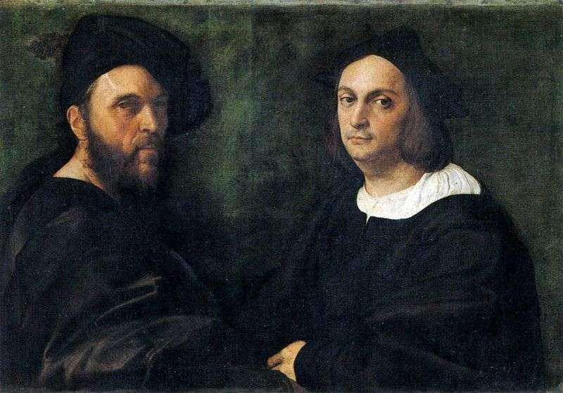 Podwójny portret   Rafael Santi