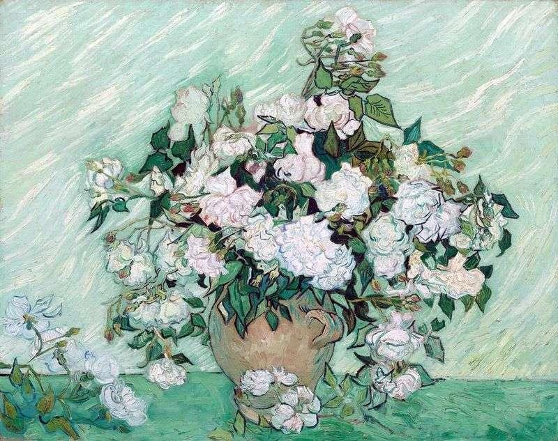 Martwa natura: Wazon z różami   Vincent Van Gogh