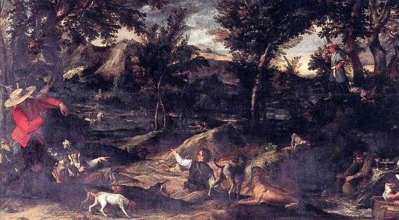 Polowanie   Annibale Carracci