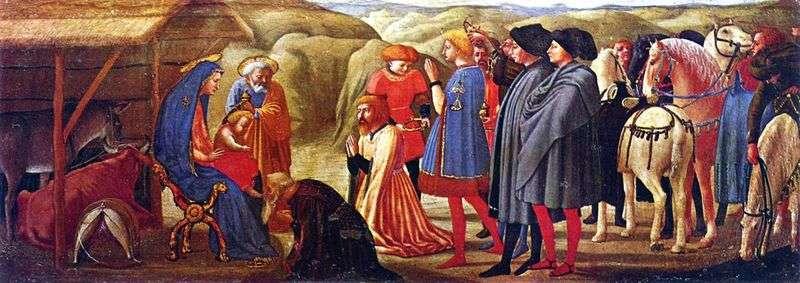Adoracja Trzech Króli   Masaccio