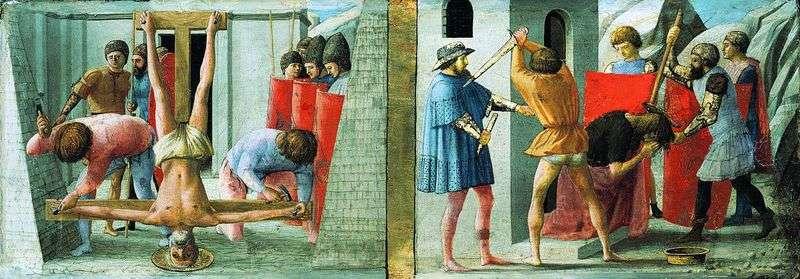 Ukrzyżowanie Piotra i ścięcie Jana Chrzciciela   Masaccio