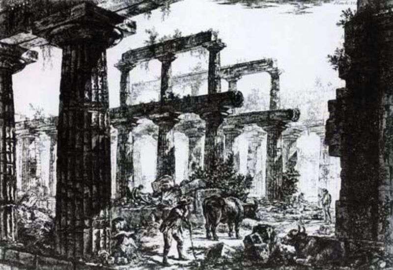 Ruiny świątyni Neptuna w Paestum   Giovanni Piranesi