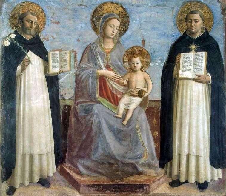 Madonna z Dzieciątkiem, Św. Dominik i św. Tomasz z Akwinu   Fra Beato Angelico