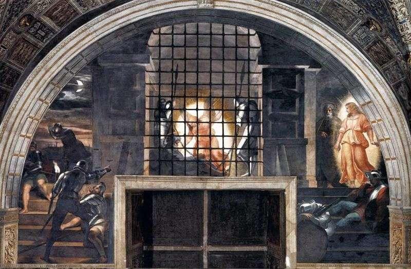 Owijanie Świętego Apostoła Piotra z więzienia   Rafael Santi
