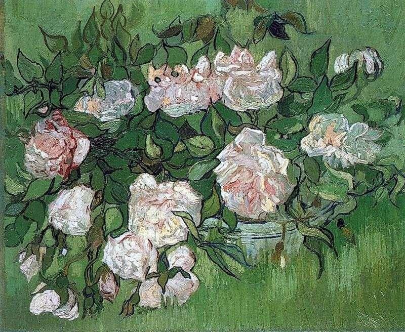 Martwa natura: różowe róże   Vincent Van Gogh
