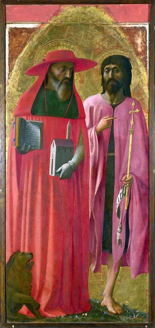 Święci Jerome i John the Baptist   Tommaso di Giovanni Masaccio