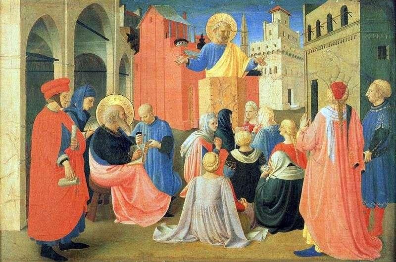 Święty Piotr dyktujący Ewangelię świętemu Markowi   Fra Beato Angelico