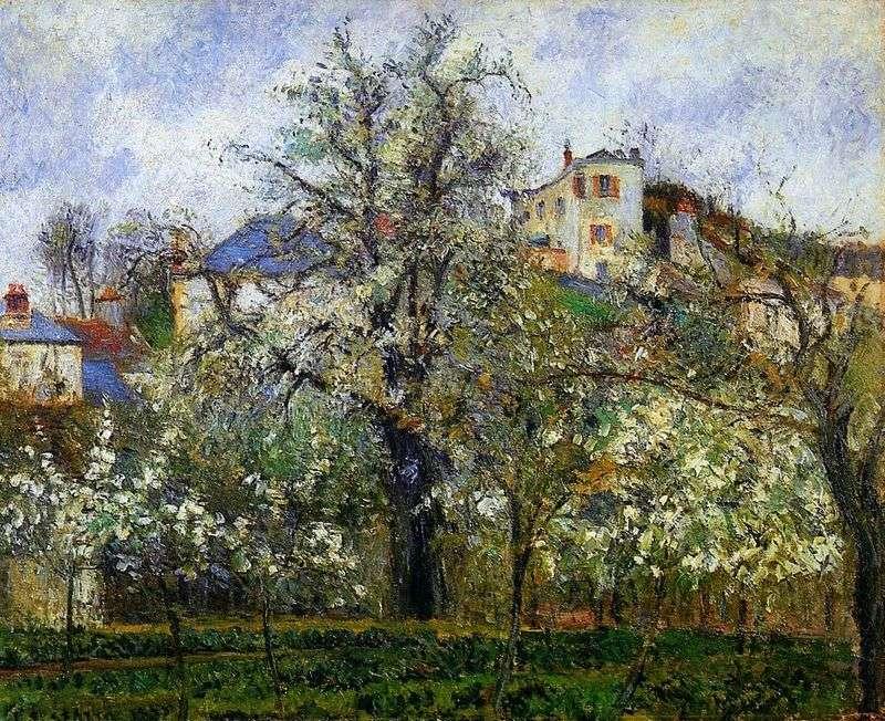 Wiosna w Pontoise   Camille Pissarro