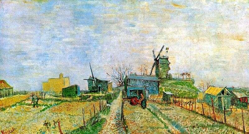 Ogród w Montmartre   Vincent Van Gogh