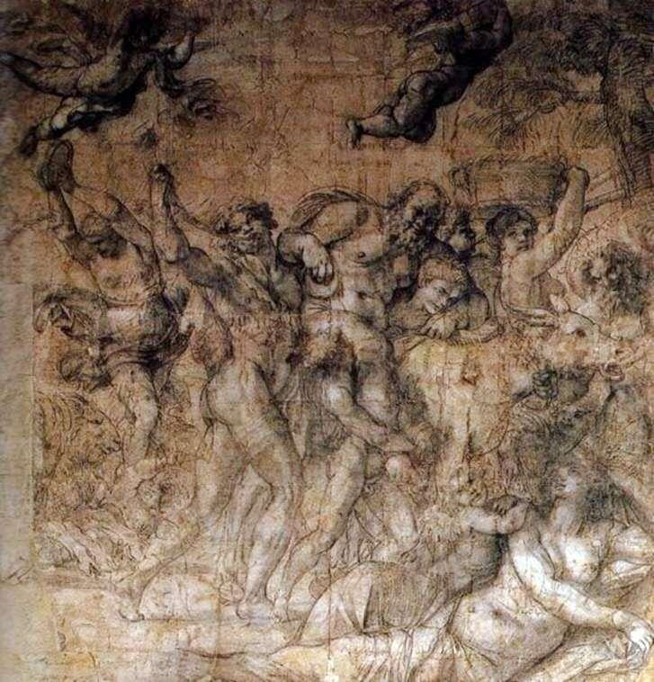 Studium do triumfu Bachusa i Ariadny   Annibale Carracci