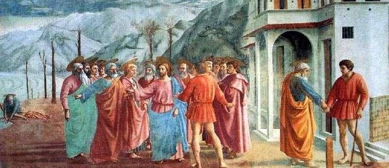 Cud z statikiem (Zapłata podatku)   Masaccio