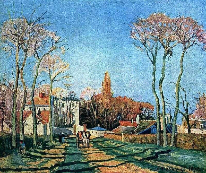 Wejście do wioski Voisin   Camille Pissarro