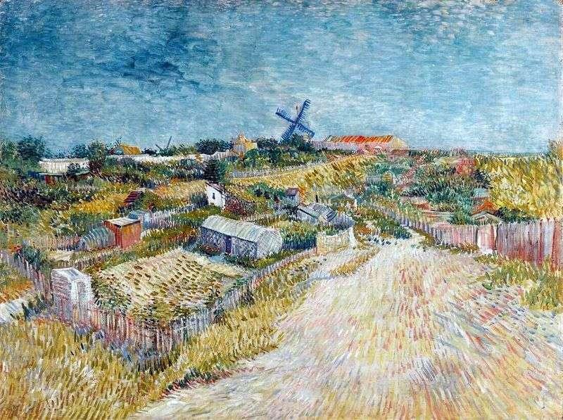 Ogrody w Montmartre w pobliżu Wzgórza Montmartre   Vincent Van Gogh