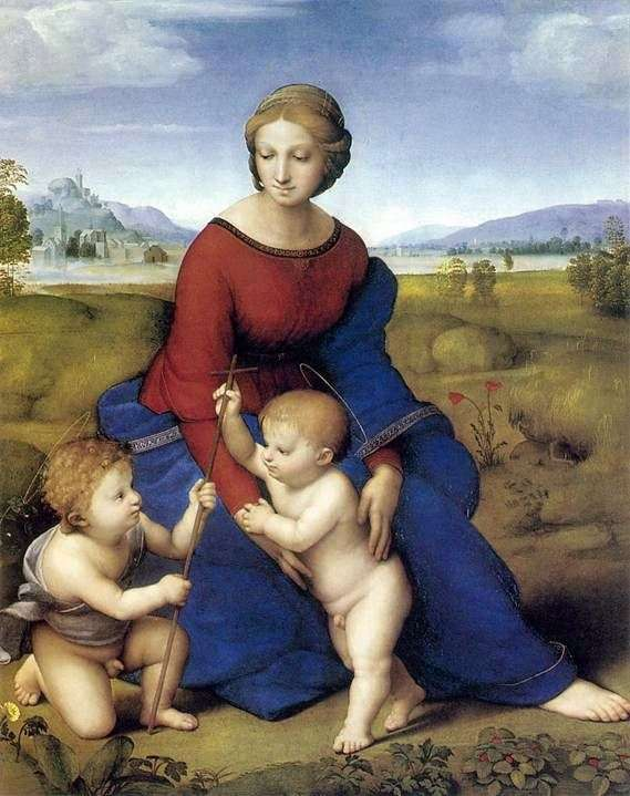 Madonna w zieleni (Madonna del Prato)   Rafael Santi