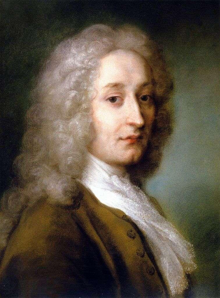 Portret Antoine Watteau   Rosalba Carrera