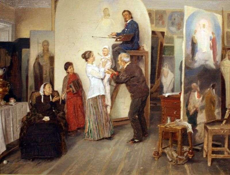 W pracowni artysty   Vladimir Makovsky