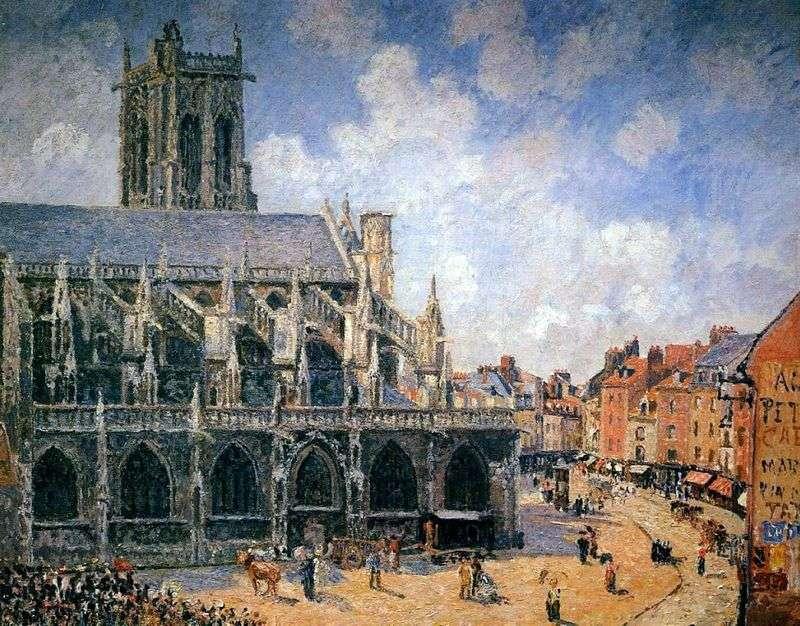 Kościół św. Jakuba. Dieppe   Camille Pissarro