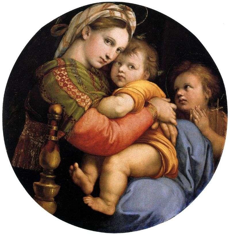 Madonna na krześle   Rafael Santi