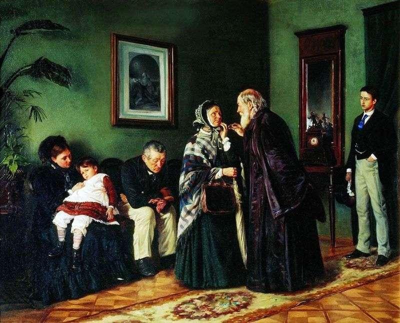 W recepcji lekarza   Vladimir Makovsky