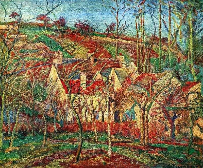 Czerwone dachy   Camille Pissarro